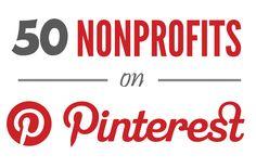 A list of 50 Nonprofits on Pinterest