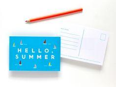 Erin Jang's printable summer postcard.
