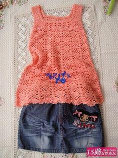 crochet de, blusa rosa, free crochet, dress free, crochet graph
