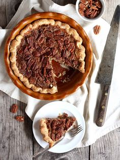 Pecan Pie, a classic pie perfect for your Thanksgiving spread. From completelydelicious.com by Completely Delicious, via Flickr