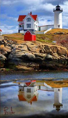 Cape Neddick Lighthouse in York, Maine • photo: brentdanley on Flickr