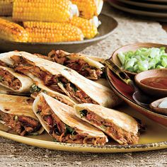 Barbecued Pork Quesadillas. A different way to make a bbq sandwich, and easy to grill.