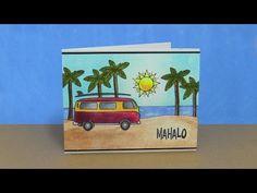 ▶ Weathered Postcard Mahalo - YouTube....a good example of masking