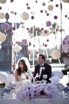 hanging wedding decor