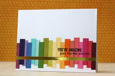 You're Amazing Card by Laura Bassen for Papertrey Ink (February 2014)