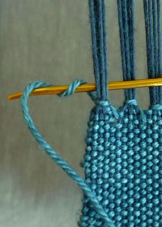 Nice picture tutorial of hemstitching and how to bind it off.