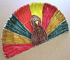 Paper plate pop up turkey