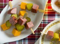 sausages, pickles, cheese kabobs, parti eat, entertain, recip, appetizers, parti food, pickle salami