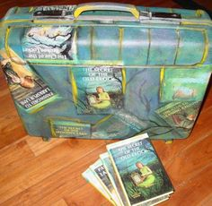 Recycle an old suitcase, and use for decoration or storage