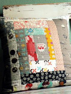 /// Pillow #patchwork #pillow #patterns #handmade
