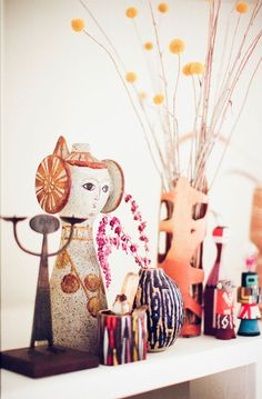 Tchotchkes from the home of Chris Sewell and Kenny Osehan, owners of the Presidio Motel