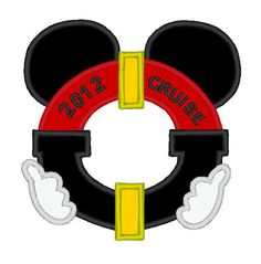 DCL applique - this would be adorable on a pillowcase for autographs. MouseTalesTravel.com