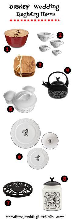 Disney Wedding Inspiration: Wedding Registry Necessities - Gourmet Mickey Mouse Kitchen Items