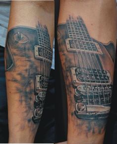 Guitar tattoo by Miro Pridal