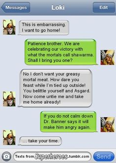Texts From Superheroes: Thor and Loki