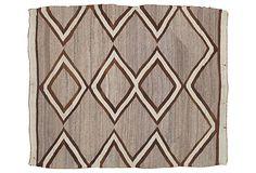 Antique Navajo Rug, 4' x 5'