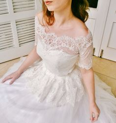 Indian Love Story fine laces bridal lace top ivory by angelikaliv, $129.00