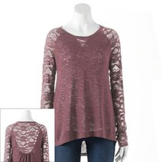 LC Lauren Conrad Mixed-Media Sweater - Women's #Kohls