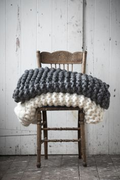 Chair with blankets