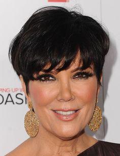Kris Jenner Short Straight Cut - Short Hairstyles Lookbook - StyleBistro