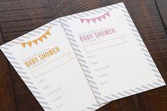 FREE baby shower invite printable #babyshower