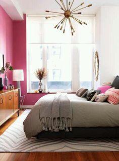 pink walls bedroom
