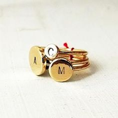STACKABLE RINGS WITH INITIALS