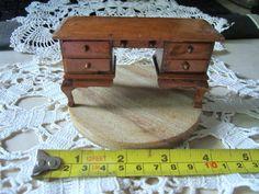 SOLD  CIJ  Wood Dollhouse Desk  Vintage Handmade by JewelsOfHighElegance, $12.50