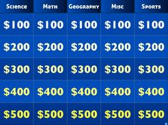 Create your own jeopardy...and it's FREE!!!!