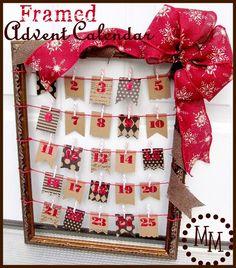 Framed Advent Calendar