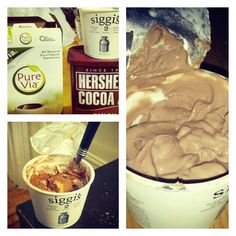 If you love chocolate, but can't fit it into your diet you HAVE to try this Greek Yogurt Chocolate Pudding Recipe -- only 110 cals, 3g fat, 4g sugar, and a whopping 14g protein.