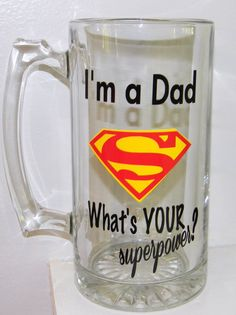 Dad Personalized Beer Mug or Tumbler Super by dreamingdandelions, $10.00 Father's day