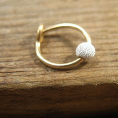 Cartilage Hoop Earrings 14k Gold Filled with by MysticMoons, $8.00
