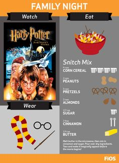 Get your magic wands and Hogwarts scarves ready to cast a spell for a family movie night with Harry Potter On Demand! And don't forget to conjure up your own batch of Snitch Mix - sure to be a kid-friendly movie snack the whole family will love. #movienight