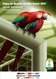 The posters of the 12 host cities of the FIFA World Cup 2014 (Brazil) - Manaus