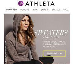 weekly inbox email marketing Athleta