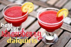 Best Ever Strawberry Daiquiris Recipe
