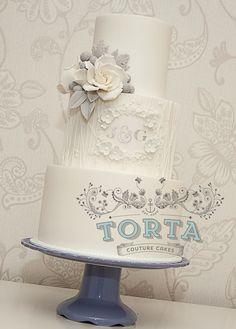 Gray White Cake