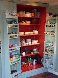 Kitchen pantry door drawers