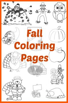 Free Fall Coloring Pages for Kids! Easy to download and print.