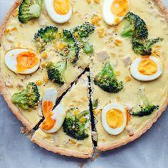 Tarta z kurczakiem i brokułami - Przepis