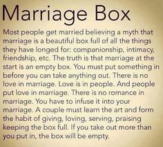 relationship, marriag box, boxes, futur life, true, inspir, marriage, quot, marriag work