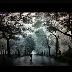 """""""A Walk In Central Park"""" oil painting"""