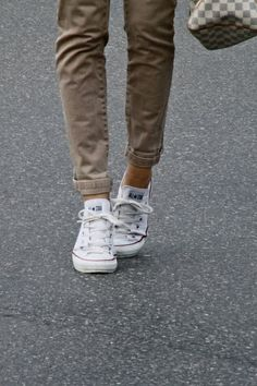 White chucks and khaki
