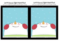 Sight Word Finds-Let It Snow! My chaps love to look for the words and record.