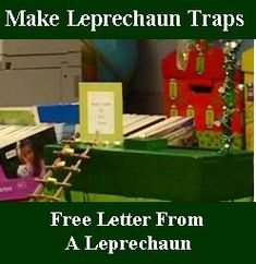 Directions for how to make your own leprechaun trap.  Includes a FREE printable letter from a leprechaun to leave by your child's trap on St. Patrick's Day morning.