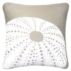 More natural modern seashell pillows!