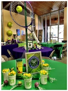 Tennis themed centerpieces