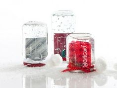holiday, teacher gifts, gift ideas, diy gift, snow globes, gift cards, giftcard, gift card holders, christmas gifts