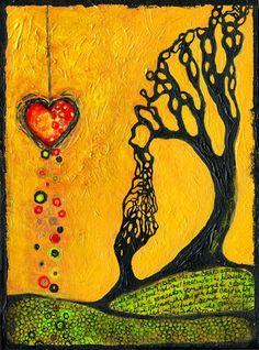 young children, bleeding hearts, a tattoo, codepend, the artist